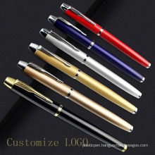 Luxury High-grade Metal Pen and Steel Pole Ballpoint Pen With Logo Customized Wholesale