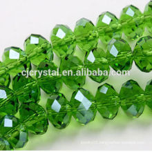 wholesale high quality flat round faceted glass bead