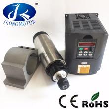 1.5kw 2.2kw eau / air moteur de broche automatique de changement d'outil de refroidissement