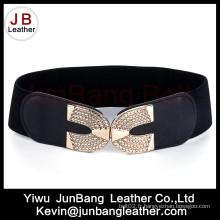 Noble à la mode élastique noir large ceintures pour les femmes en gros Fabricant