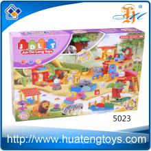 Los juguetes animales calientes de los bloques huecos de la inteligencia del parque zoológico de las ventas 146pcs para los cabritos