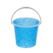 Cubo redondo barato vendedor caliente del lavadero plástico de la impresión del precio 15L con la manija