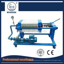 prensa de filtro de placa y marco para purificar agua