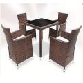 5PCS Rattan Garden Dining Furniture Set