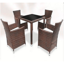 5PCS Rattan Garden Dining Furniture Set