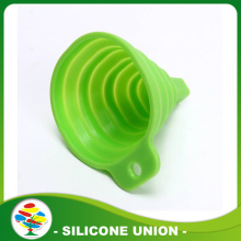 Penyimpanan Mudah Custom Color Collapsible Silicone Funnel