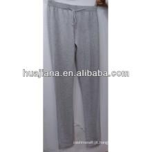 calças de cashmere estilo relax para mulheres