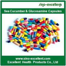 Pepino de mar y cápsulas de glucosamina