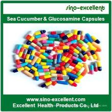 Capsules de concombre de mer et de glucosamine