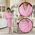 Nouveau Design dentelle Inlay femmes flanelle peignoirs de bain pour femmes