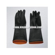 Gant de latex industriel double couleur léger-5605