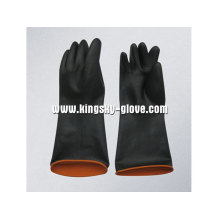 Light Weight Double Color Industrial Latex Glove-5605