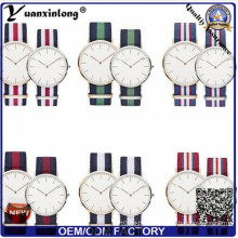 Yxl-549 Fashion Stainless Steel Case Brand Couple Lover Nylon Strap Watches Nato Wrist Watch