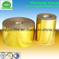 Bandeja plástica del vacío de la película de la plata del oro del PVC para el embalaje del chocolate