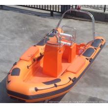 Costela de fibra de vidro para barco de resgate inflável