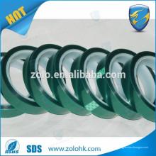 Resistência a altas temperaturas sem resíduo adesivo de silicone Fita de máscara de PET para soldagem de PCB