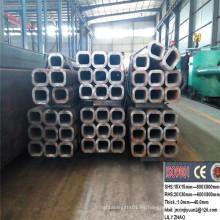 Tubo de acero cuadrado laminado en caliente sin soldadura Tubo de acero rectangular