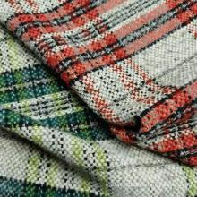 Boucle fashion yarn dyed plaid design fabric