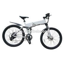 TOP E-cycle 26 pulgadas plegables batería oculta bicicleta de montaña eléctrica