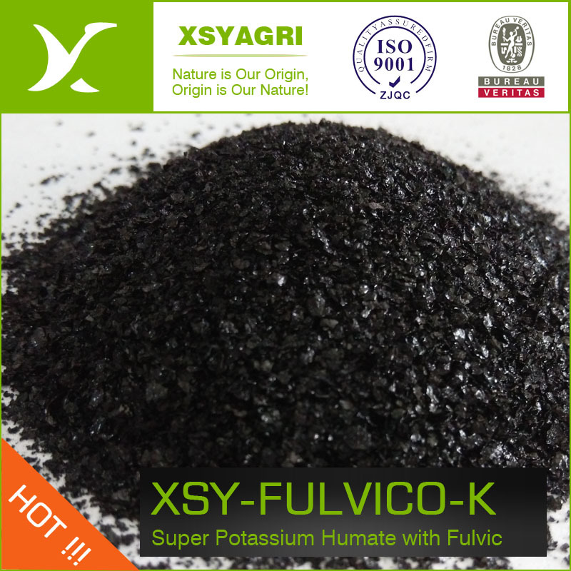 100 % potassium Humate Super Grade flocon brillant