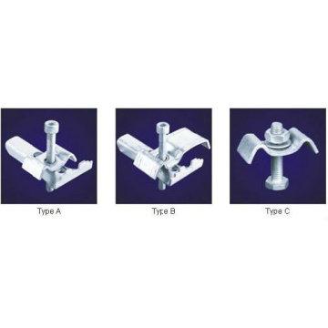 Clips de rejilla galvanizados por inmersión en caliente, clip de rejilla de fijación de acero, abrazaderas de rejilla galvanizadas