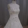 Fashion A-Line Bridal Dress Beading Lace