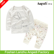 Newborn Infant Kids Baby 2 pcs Baby Outfits T-shirt Tops+Pants Clothes Set Wholesale Baby Clothes