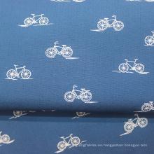 Tela de cuadros de popelina de camisa de algodón 100%