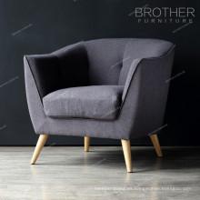 Sofá redondo del café de las sillas de la tela del sofá del nuevo espera que espera del diseño