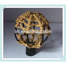 Декоративные занавески для шарика из ротанга