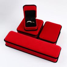 Tecido Jóias Caixa Anel / Pingentes / Colar / Pulseira Embalagem Gift Box