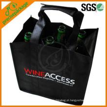 Promocional não tecido 6 saco de garrafa de vinho para champanhe
