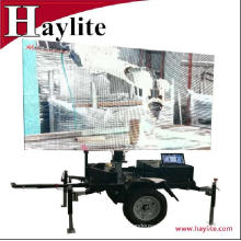 Advertising mobile sign trailer for outdoor with LED light display