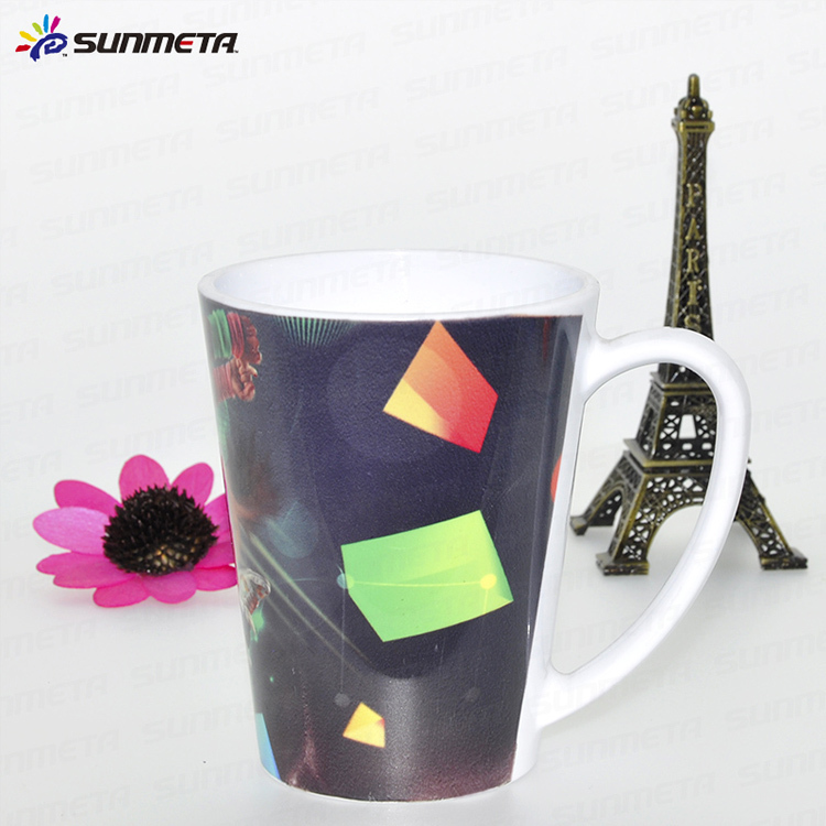 12oz Plastic sublimation Conical white mug/cup