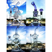 Hb King Enjoylife Handblown Borosilicate Mini Beaker Recycler Glass Smoking Water Pipe
