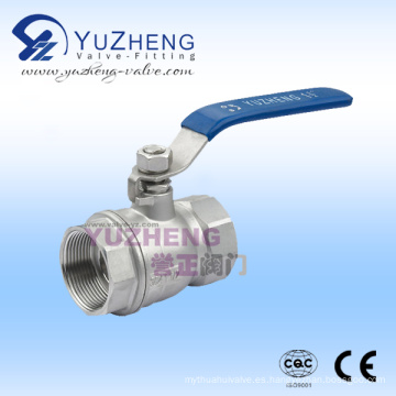 Válvula de bola de diámetro reducido de acero inoxidable 2PC