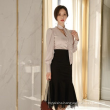 2020 spring and summer new ladies' OL professional thin two-piece suits western style sexy elegant dress and v-neck blouse