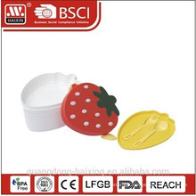 Plastic Strawberry Lunch Box