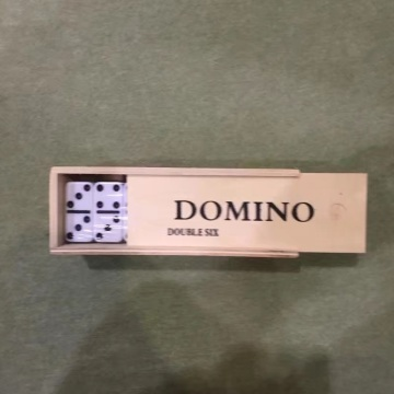 High Quality Double 6 Domino Blocks In Wooden Box