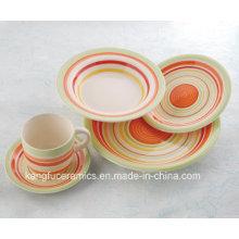 Ensemble de dîner en céramique coloré résistant à la chaleur