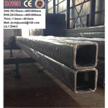 Tubo cuadrado y rectangular de acero suave