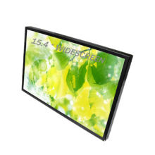 15.4-inch Widescreen Resistive Touch LCD Monitor, Metal Housing with VGA/HDMI Input