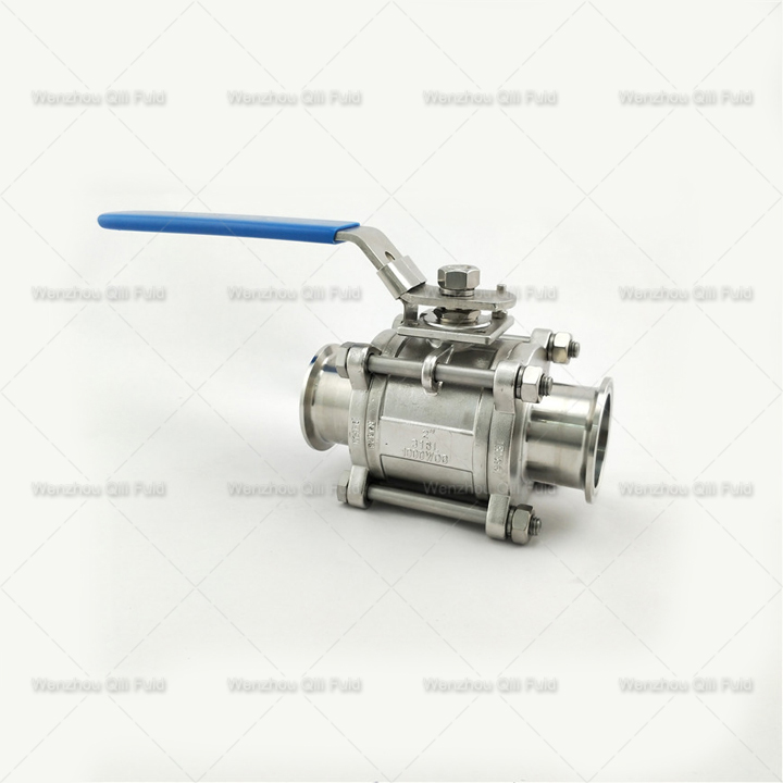 Clamped 3pcs Ball Valve x (10)