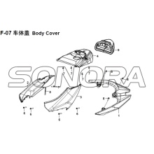 Cobertura Do Corpo F-07 XS150T-8 CROX Para SYM Spare Part Top Quality