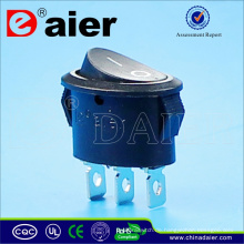 Oval 3 Pin 10A 125VAC Wippschalter