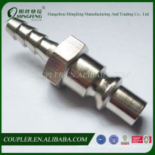 Hose Tail ARO Type Quick Plug With Brass Nickel-Plated