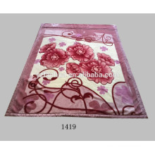 Fábrica oferta barato 2ply impresso cobertores Raschel vison