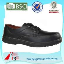 Zapato de seguridad de cuero para hombre Oxford Steel Toe