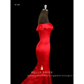 Vestido formal do vestido da noite da sereia da bainha do ombro