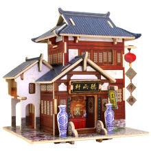 Wood Collectibles Toy for Global Houses-China Tea House